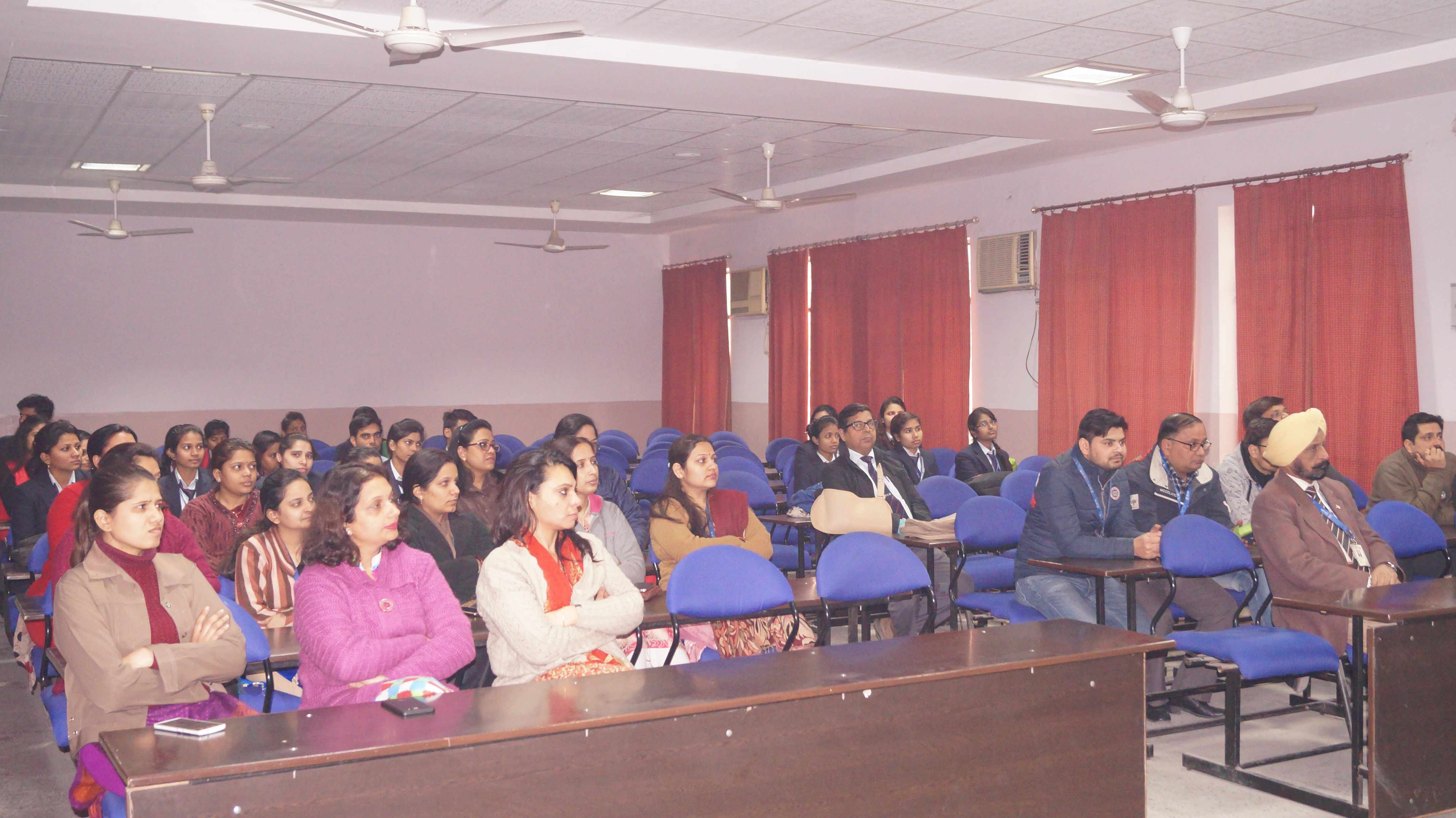 Faculty members and students attending Netaji's birth anniversary & watching documentary presented by MBA student